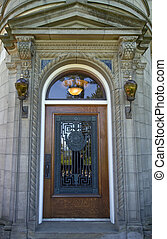 Historic Building Architectural Door - Pittock Mansion...