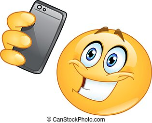 Selfie emoticon - Emoticon taking a selfie