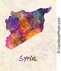 Syria in watercolor