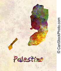 Palestine in watercolor