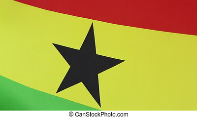 Closeup of national flag of Ghana - Closeup of a textile...