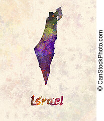 Israel  in watercolor