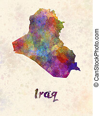 Iraq in watercolor