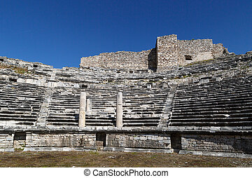 Miletus Amphitheater View - View of Miletus amphitheater in...