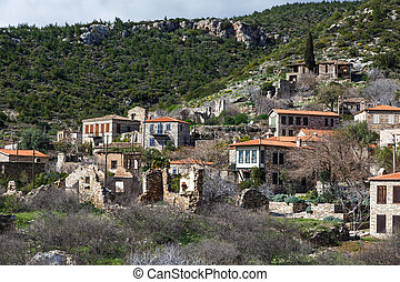 Small Village View - General view of historical Doganbeyli...