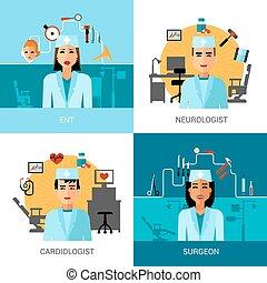 Specialist Doctors Concept Set - Specialist doctors concept...