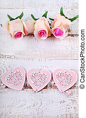 romantic love background with space for own text,hearts and...