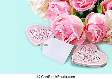 romantic love background in pastel colors with bunch of pink...