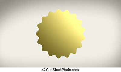 Gold Seal Sticker w Alpha - Animation of a gold seal sticker...