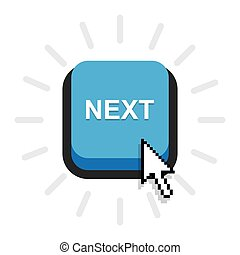 Blue Button next,next Icon Vector on white background