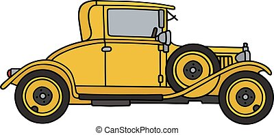 Vintage yellow coupe