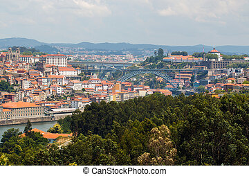 Oporto urban skyline - View from Oporto city in Portugal