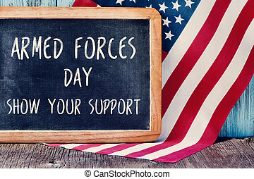 US flag and text armed forces day, show your support - the...