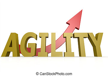 Agility word with red arrow image with hi-res rendered...
