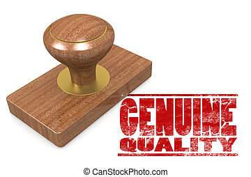Genuine quallity wooded seal stamp image with hi-res...