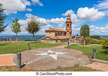 View on parish church in Italy. - Viewpoint and old parish...