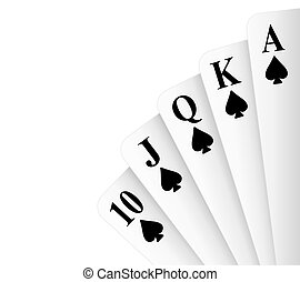 Royal Flush Spades - Spades suit royal flush poker hand...