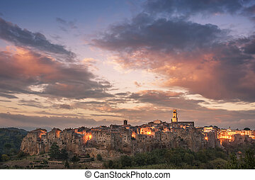 Majestic Sunset over Pitigliano - Majestic sunset over...