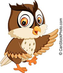 cute owl cartoon - illustration of cute owl cartoon