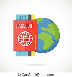 Passport, boarding pass, Earth