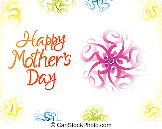 abstract artistic colorful mother's day background.eps