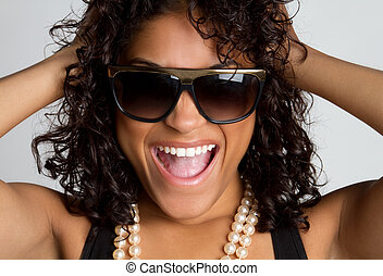 Laughing Woman - Playful laughing black woman