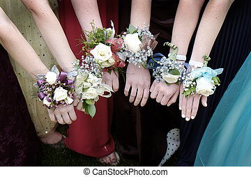 Prom Corsages Girls Beautiful Dresses - Girls with Corsage...