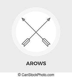 Arows Vector Flat Icon - Arows Icon Vector Flat icon...