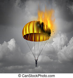 Golden Parachute Problem - Golden parachute problem concept...