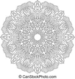 Mandala. Ethnic decorative elements. Hand drawn background....