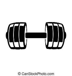 dumbbell - This is a vector illustration of dumbbell