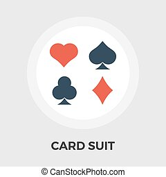 Card suit Vector Flat Icon - Card suit icon vector. Flat...