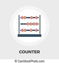 Abacus flat icon - Abacus icon vector Flat icon isolated on...