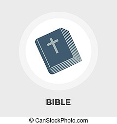 Bible flat icon - Bible icon vector Flat icon isolated on...