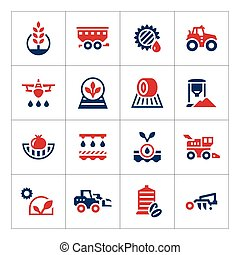 Set color icons of agriculture