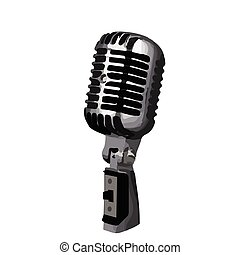 Classic Microphone with no logo - Classic Microphone with...