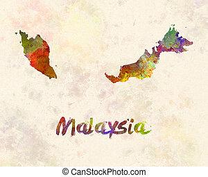 Malaysia in watercolor