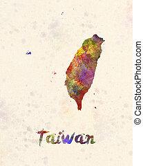 Taiwan in watercolor