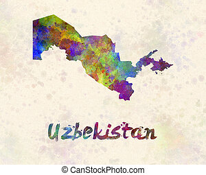 Uzbekistan in watercolor