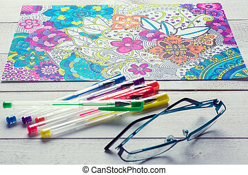 Adult coloring books, new stress relieving trend