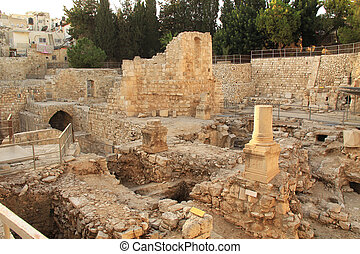 Excavated Ruins of the Pool of Beth - Excavated...