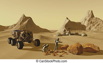 Mars Planet Explorers - Two explorers take their vehicle to...