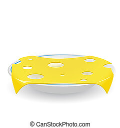 Cheese on saucer