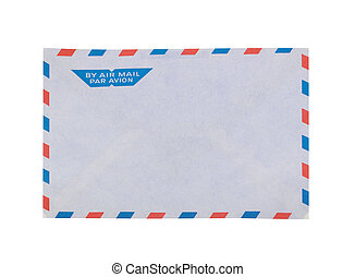 Envelope for airmail with clipping path - Envelope for...