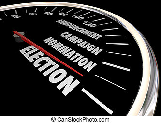 Election Voting Democracy Campaign Nomintation Speedometer...