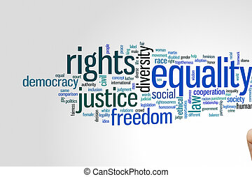 Equality word cloud - Equality concept word cloud background