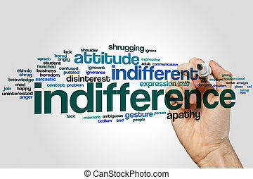 Indifference word cloud concept with disinterest ignore...
