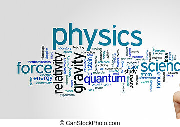 Physics word cloud - Physics concept word cloud background