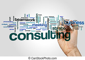 Consulting word cloud - Consulting concept word cloud...