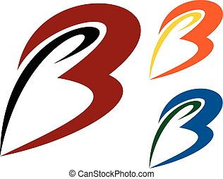 letters b logo illustration - logo for any business